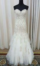 NEW Mori Lee Bridal 2691 Mermaid Trumpet Sweetheart Wedding Dress Gown Ivory 12