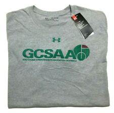 Under Armour Men's 2Xl HeatGear Short Sleeve Loose Fit T-Shirt Gray Golf Gcsaa