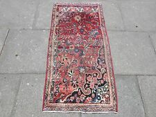 Old Traditional Persian Rug Oriental VAGEREH Hand Made Wool Red Rug 143x70cm