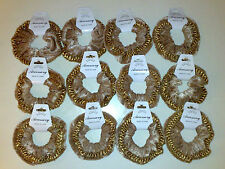 Accessory Job Lots 2 X Velvet With Lace Edging Hair Scrunchies Bronze