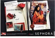 PUBLICITE ADVERTISING  2011   KENZO  senteurs pour  SEPHORA  (2 pages)
