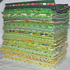 Designer Fabric Scrap Bag Green, 2 yards total, 100% cotton fabric