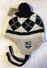 Los Angeles Kings Knit Beanie Toque Winter Hat Skull New NHL Ear Flap - Grey