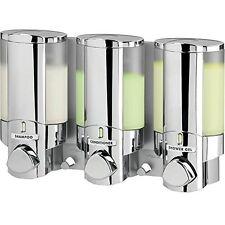 Better Living Products Aviva Three Chamber Dispenser, Chrome , New, Free Shippin