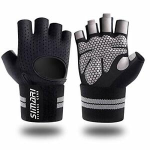 SIMARI Workout Gloves Mens and Women Weight Lifting Gloves with Wrist Support...