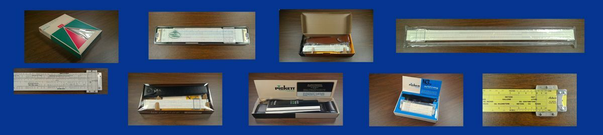 Slide Rule And Coin Collectables