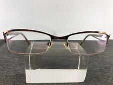 69c8ef79ee6 Takumi Eyeglasses 51-19-135 Bronze Metal Frame Half Rimless C275