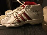 Autographed Pair of NBA Hawks Player Hano Matolo! Game Worn Shoes!! Rare!!