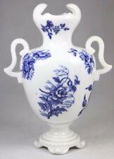 Antique Coalport Flo Blue and White Floral Vase Circa 1880