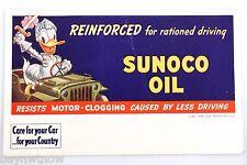 Vintage Sunoco Oil Advertising Ink Blotter With Donald Duck Defense Bonds