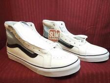 Vans Sk8-Hi slim Cutout, Mesh, Black and White, womens shoe, 9.5