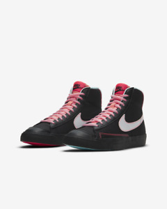 Nike Blazer Mid UK Size 5 EUR 38 Women's Shoes Black Pink Trainers