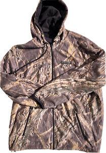 Mossy Oak Blackout Field & Stream Tree Camo Hooded Sweatshirt Hunting Large Mens