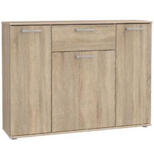 1 Drawer 3 Door Wide Sonoma Light Oak Sideboard Storage Cabinet Modern Furniture
