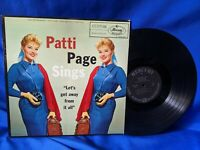 "Patti Page LP ""Let's Get Away From It All"" Mercury MG 20387 JAZZ 1958"