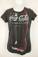 OLD NAVY Collectabilitees Gray Coca Cola Graphic Short Sleeve Shirt Women's SZ S
