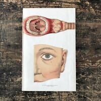 A fantastic antique pop up anatomical diagram of the human face.