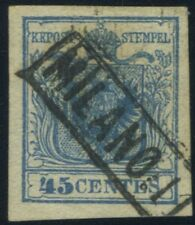 Italy Lombardy-Venetia 1851 45 cents type I USED Sas 17 CV $1200 171215015