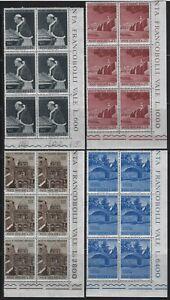 VATICAN - #375-#378 - HOLY LAND VISIT PLATE BLOCKS (1964) MNH