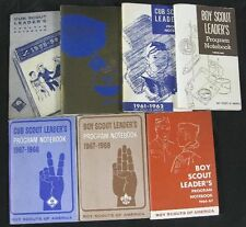 Lot of 30 Vintage BSA 1958-69 Leader's Program Notebooks