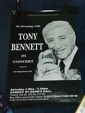 TONY BENNETT SIGNED POSTER