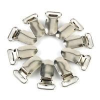 10 Pcs Metal Clips Insert Baby Pacifier Dummy Holders Pacifier Suspender Hook