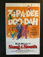 """Song of the South Original One Sheet Movie Poster R1980 - 27"""" x 41"""" EX+/NM"""