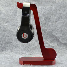 250mm Large Musical Symbol Red Wooden Headphone Display Stand Holder Universal