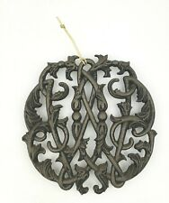 Virginia Metalcrafters Cast Iron Trivet 1950 Colonial Williamsburg Cypher
