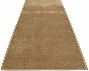 Custom Size Rug Runner Solid Beige Color Non Slip Cut to Size Beige Runner Rugs
