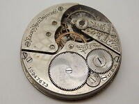 Vintage Antique Pocket watch movement 16 size Elgin Open Face nickel circa 1903