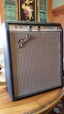 Vintage 1973 Fender Silverface Musicmaster Bass Modified 1x15 Jensen Tube Amp