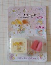 JAPAN Sanrio Little Twin Stars Ear Plugs with Case  Earphone Kiki Lala Earplugs