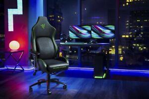 Office Gaming Chair Racing PU Massage Executive Computer Desk Seat Swivel Green