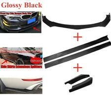 "78.7""Side Skirts+Front Bumper Lip Spoiler Body kit+2 x Rear Lip For BMW 330i M3"