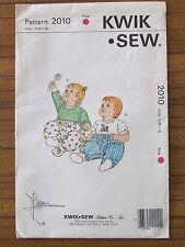 KWIK SEW PATTERN - 2010 BABY TODDLER JUMPSUIT GROWSUIT ONSIE S M L XL UNCUT