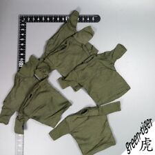A318 1:6 Scale ace Vietnam Military action figure parts - OD Green T shirt x 6