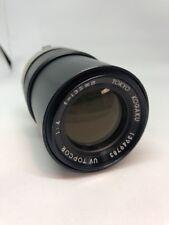 Lente della fotocamera Topcon Tokyo Kogaku UV TOPCOR 135mm. f4 per reflex. Canon FD FIT