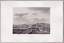 Edinburgh Schottland - Gesamtansicht - Original Stahlstich 1862