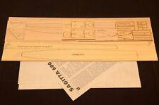 R/c Glider SAGITTA 600 Laser Cut Short Kit, Plans & instruction 79 in wing span