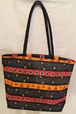 Laurel Burch Large Tote Shoulderbag Handbag Multicolor W/Geometric Shapes New
