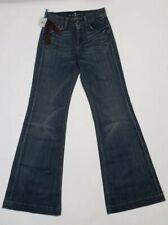 7 For All Mankind Womens Mega Flare Jeans Mid Rise Ginger   Size 24