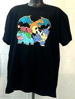 Pokemon Official T-Shirt Black Pokemon Licensed Tee Various Sizes