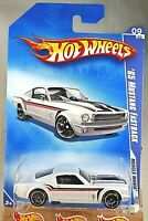 2009 Hot Wheels #85 Muscle Mania 9/10 '65 MUSTANG FASTBACK White Variant w/OH5Sp