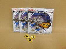 Alice A606M Electric Bass Guitar Strings Medium .045 .105 3 Picks