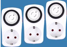 Alecto TS-123 - Zeitschaltuhr / Steckdose 3-er Set Kindersicher