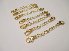 Reino Unido 7 piezas de oro 55 mm Extensión Extensor Cadena Collar/Pulsera Joyería