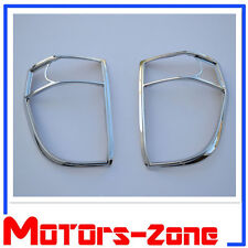 For 02-09 Chevy Trailblazer Chrome Tail Light Taillight Covers Lid Trim Bezels
