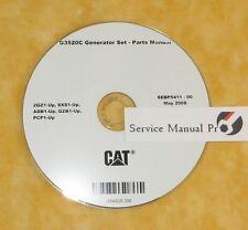 SEBP5411 Caterpillar G3520C Generator Set Parts Manual Book CD