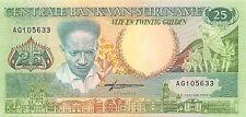 Suriname 25 Gulden 9.1.1988  Prefix AG Uncirculated Banknote , G6